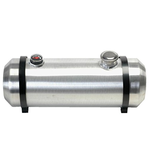 8 Inches X 16 Spun Aluminum Gas Tank 3 Gallons With Sight Gauge For Dune Buggy, Sandrail, Hot Rod, Rat Rod, Trike