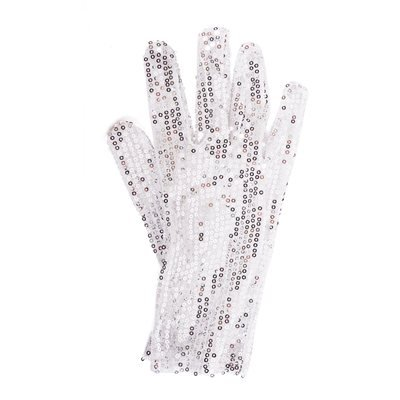 [Right Handed Silver Sequin Glove, One Size] (Michael Jackson Dance Costume)