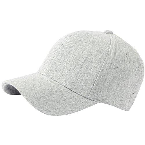 RaOn G57 Men Spandex Empty Plus Size XL XXL Flex Big Ball Cap Baseball Hat Truckers (Gray)