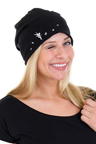 os Negro Mujeres Invierno Para Blanco Ni Jersey 3elfen Playing Long Beanie o Oto Cotton Beanie Fairy 0Hn86qv