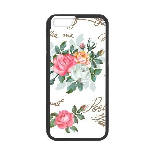 FDXGW490 iPhone 6 4.7 Inch Cell Phone Case-black_Retro Flower