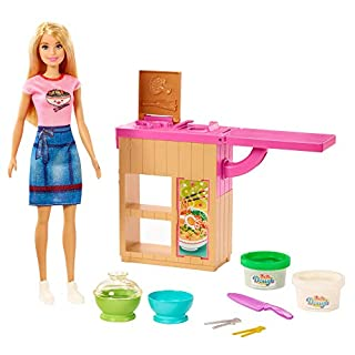 ​Barbie Noodle Bar Playset with Blonde Doll, Workstation and Accessories