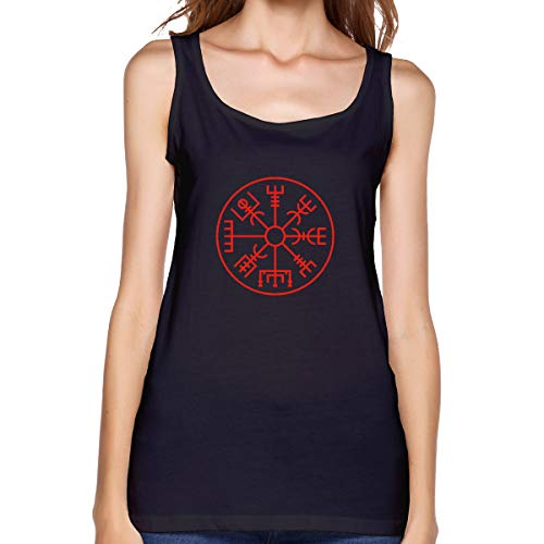 Sleeveless T Shirts for Women, Viking Symbol Nordic Compass Workout Tank Tops Sleeve Shirt for Sport Running Yoga - Tank Compass