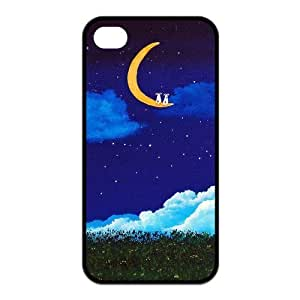 Crescent Moon Fashion Design Cover for Iphone 4 4S