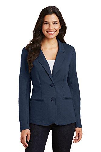 Wear Navy Blazer (Port Authority Women's Knit Blazer LM2000 Deep Navy Large)