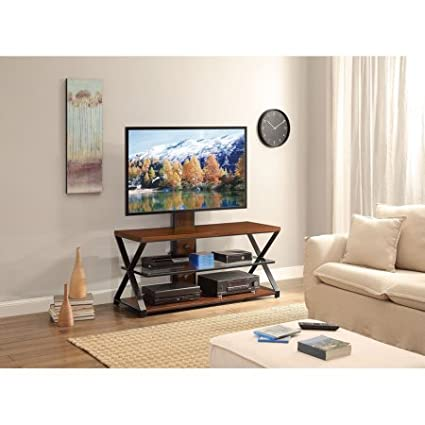 Amazon Com Jaxon 3 In 1 Cognac Tv Stand For Tvs Up To 70 Kitchen