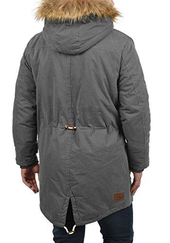 Efecto De Peluche Parka Dry Abrigo Hombre Chaqueta Pelo Para Y 2890 Con Dark Invierno Capucha Solid Grey Forro xqIP8nx