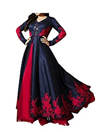 Woman style woman's Embroidery Gorgette Anarkali Dresses gown (Anarkali)