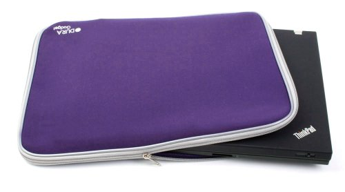 DURAGADGET Royal Purple 17 inch water resistant laptop carry case / bag / sleeve for Dell XPS M1730 (N04X7303) (NX7303) PC Notebook