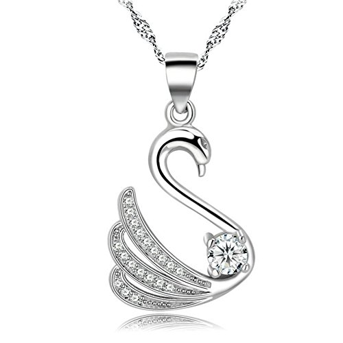 huiyin-jewelry-18k-white-gold-plated-cygnet-necklace-with-cubic-zircon-sterling-silver-wave-chain-ne