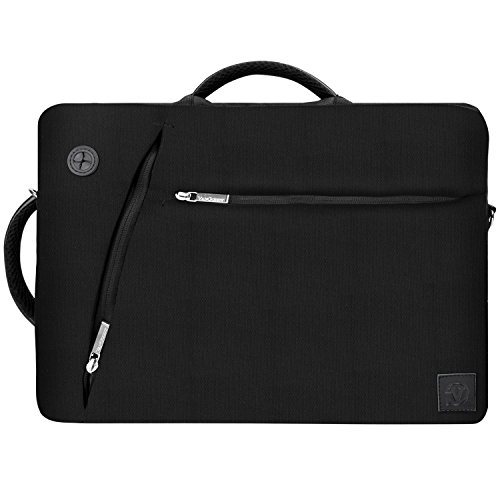 Lightweight Black Hybrid Messenger / Briefcase / Backpack Bag for HP 15.6