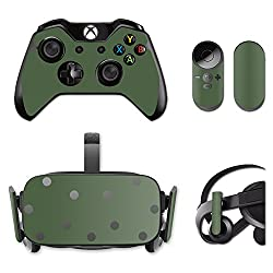 MightySkins Protective Vinyl Skin Decal for Oculus Rift CV1 wrap cover sticker skins Solid Olive