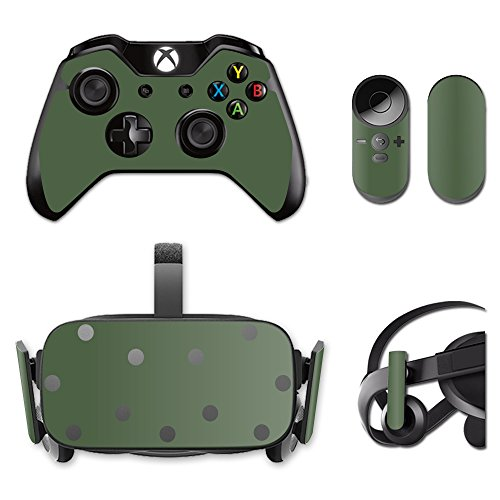 MightySkins Skin Compatible with Oculus Rift CV1 wrap Cover Sticker Skins Solid Olive