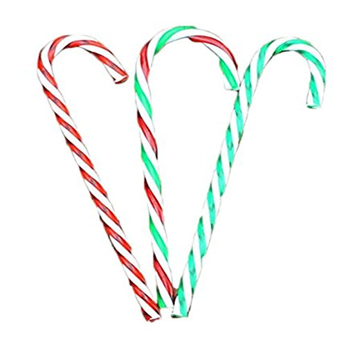 Generic Christmas Plastic Candy Cane Ornaments 30 Pcs