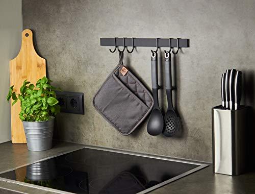 41CJKnmc5CL Designfabrik Hamburg | Hakenleiste Küchenleiste selbstklebend Hängeleiste Stange für Küchenutensilien | Küchenhalterung…