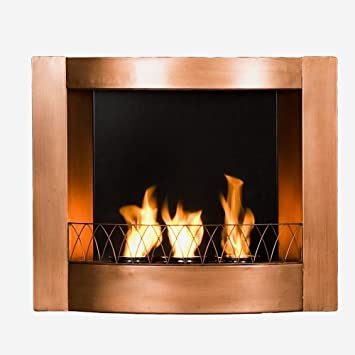 Amazon Com Sei Copper Wall Mountable Gel Fuel Fireplace Kitchen