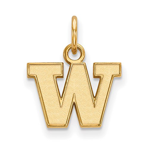 Washington Extra Small (3/8 Inch) Pendant (14k Yellow Gold) by LogoArt