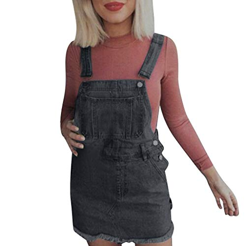 Toponly Women's Denim Overalls Dress Juniors Bib Skirt Adjustable Cute A-line Jean Skirtall Dungaree Pinafore for $<!--$12.09-->