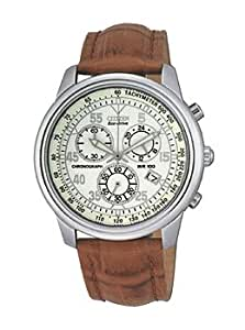 Citizen Men's AT0120-37A Brown Leather Strap Eco-Drive Watch