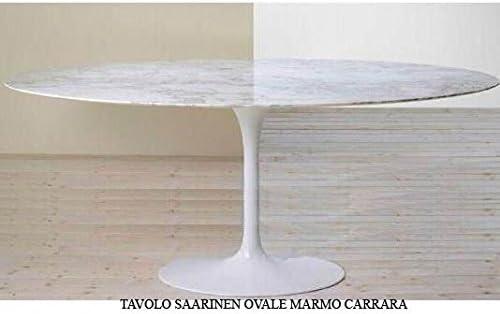 Mesa Tulip Saarinen ovalada 199 x 121 cm mármol Carrara Made ...
