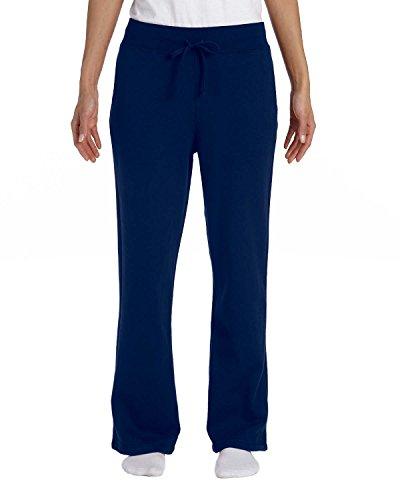 Gildan Heavy Blend Ladies 8 oz, 50/50 Open-Bottom Sweatpants, Small, Navy ()
