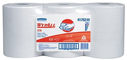 "WYPALL 41.702 desechable X70 Wiper, 9.8 ""ancho x 13.4"" Longitud, blanco"