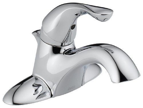 Delta 520-MPU-DST Classic Single Handle Centerset Bathroom Faucet, Chrome (Handle Chrome Single Centerset)