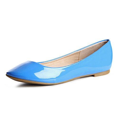 Bleu Chaussures Topschuhe24 753 Ballerines Clair Femmes qww8x0g