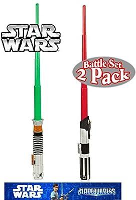 Star Wars Luke Skywalker & Darth Vader BladeBuilder Extendable Lightsabers Gift Set Bundle - 2 Pack
