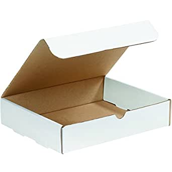 Tuck Top One-Piece Pack of 50 Boxes Fast BFM832 Corrugated Cardboard Mailers Medium White Mailing Boxes 8 x 3 x 2 Inches Die-Cut Shipping Cartons
