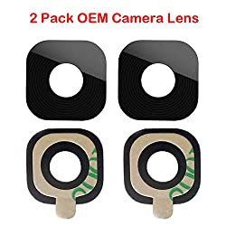 2 Pack Original Samsung Galaxy S6 G920 S6 Edge G925 Back Rear Camera Glass Lens Replacement + Adhesive Tape