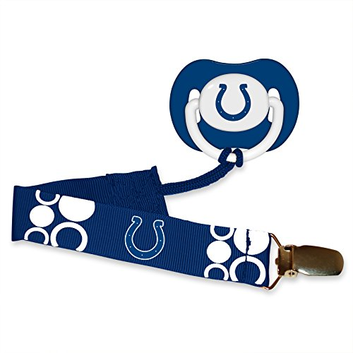 Pacifier with Clip Indianapolis Colts