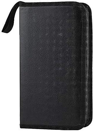 Coofit Cd Taschen Aufbewahrung 80 Cds Blu Ray Discs Cd Computer Zubehör
