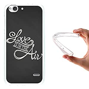 WoowCase - Funda Gel Flexible { ZTE Blade S6 } Frase Amor - Love Is In The Aire Carcasa Case Silicona TPU Suave