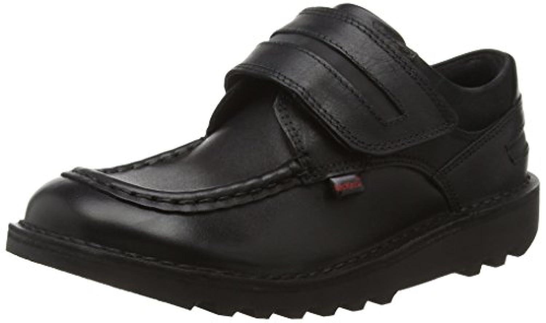 Kickers Boys' Kick Cyba Strap-Youth Loafers, Black (Black), 1 UK 33 EU
