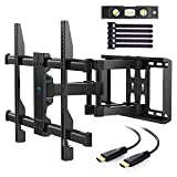 """TV Wall Mount Full Motion Swivel Dual Articulating Arm for Most 37"""" -70"""" LED, LCD, OLED, Plasma TVs up to VESA 600x400mm, 132lbs by PERLESMITH"""