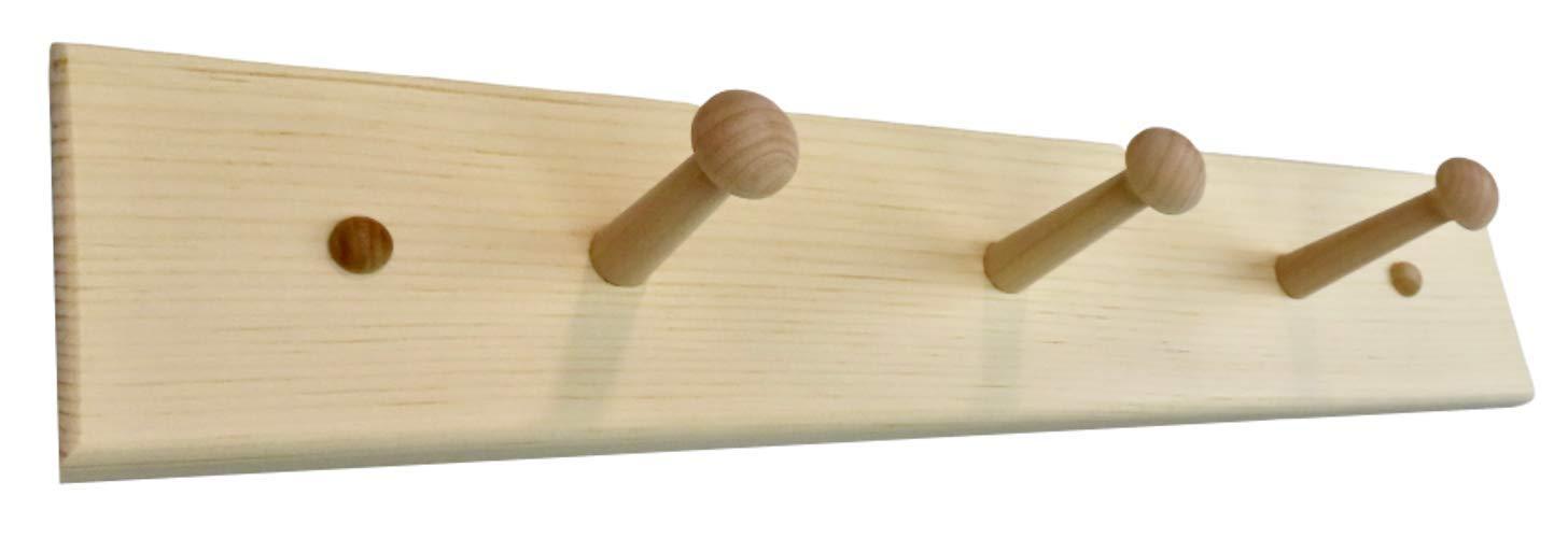 18 Unfinished Shaker Peg Rack