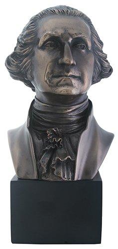 Summit President George Washington Bust Statue Sculpture, Bronze - Sculpture Bronze Finish