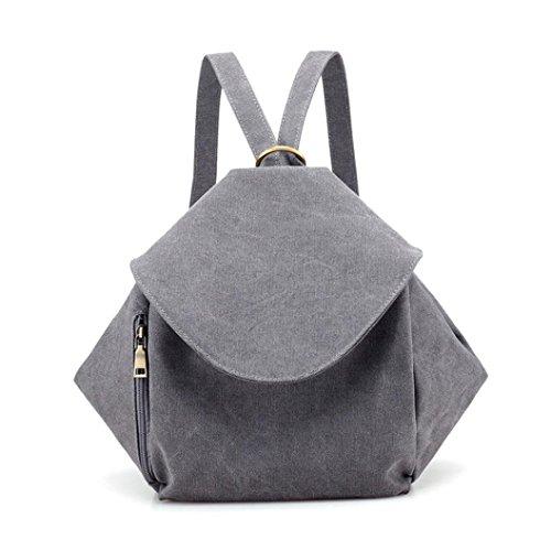 (YJYDADA Bag,Fashion Single Shoulder Slanted Backpack Double Shoulder Bag Canvas Leisure Bag (Gray))