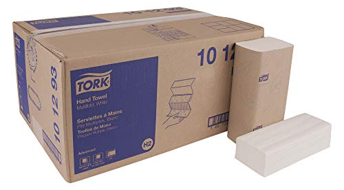 TORK Advanced 101293 Soft Xpress Multifold Paper Hand Towel, 3-Panel, 2-Ply, 9.125