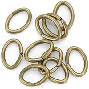 Silver Tone Plated Jewelry Supplies Brass Open Jump Rings PP1564S Brass Open Jump Rings 5x4x0.7mm
