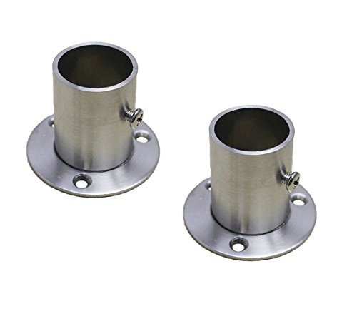 Pipe Stainless Hangers Steel (NELXULAS Stainless Steel Closet Rod Flange Holder for Pipe (AD2))