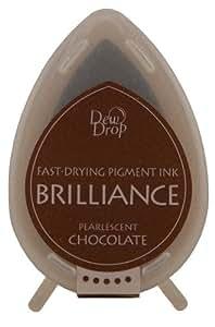 Tsukineko Brilliance Dew Drop Inkpad, Pearlescent Chocolate