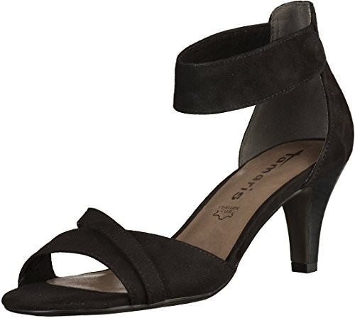 Tamaris 1-1-28305-28/346-346 - Sandalias de vestir de Piel para mujer BLACK UNI