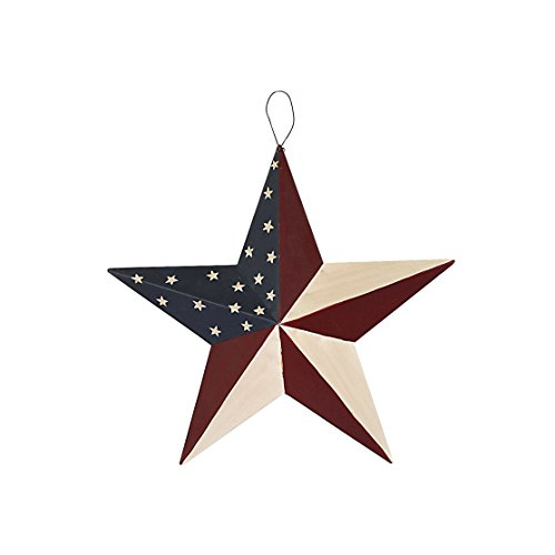 American Barn Star, Metal Patriotic Old Glory Americana Flag Barn Star Wall Decor for July of 4th Independence Day (S-Stars)