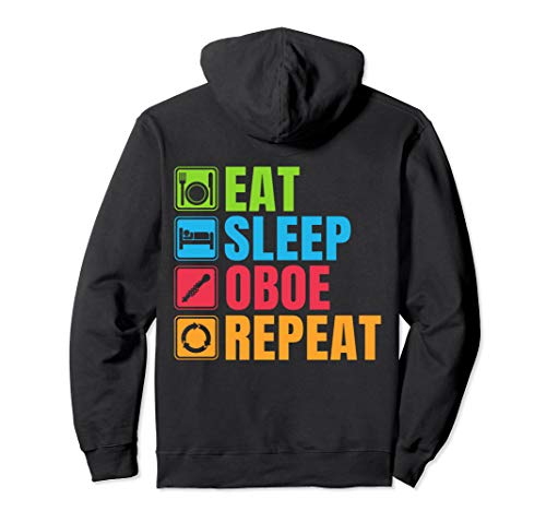 Funny Oboe Gift Eat Sleep Oboe Repeat Pullover Hoodie