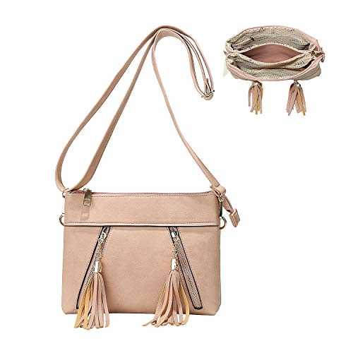 Women Satchel Bags Handle Shoulder Handbags Purses Pockets Zipper Leather Crossbody Bags