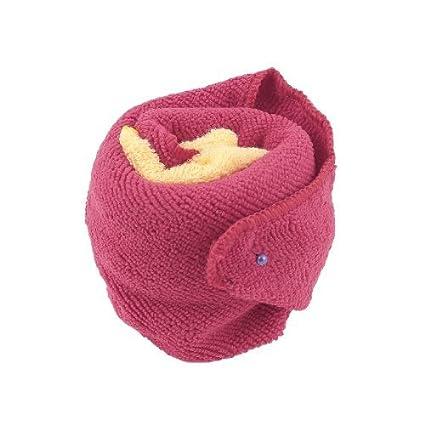 Amazon.com: eDealMax Forma cuadrada Terry Estropajos toallas de cara DE 2 piezas Rojo Amarillo: Home & Kitchen