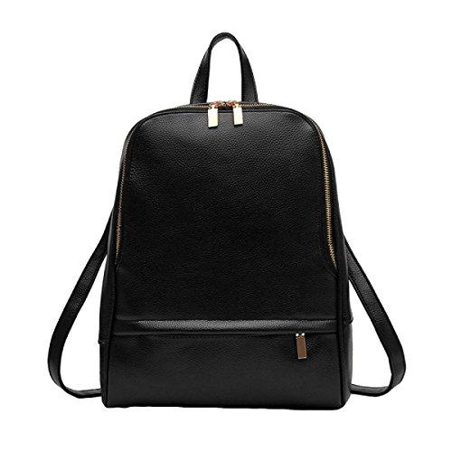 Damas De Moda De Viaje Mochila De La Universidad Viento Hombro Bolso Con Una Bolsa De Gran Capacidad Black
