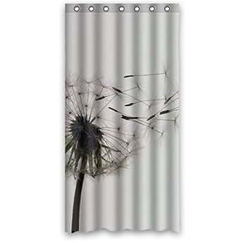 interdesign dandelion shower curtain bathroom decor 36 x 72 clothing. Black Bedroom Furniture Sets. Home Design Ideas